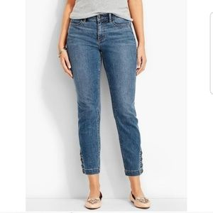 Talbiots Flawless Five-Pocket Button-Ankle Jeans